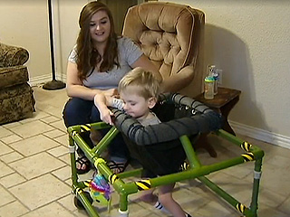 Home Depot Employees Make Special Walker for Disabled 2-Year-Old