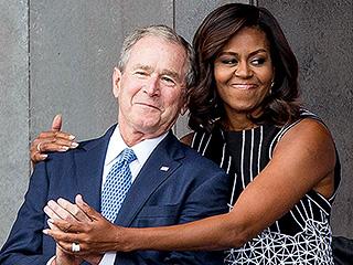 Michelle Obama Cradling George W. Bush Is the Internet's Latest Photoshop Craze