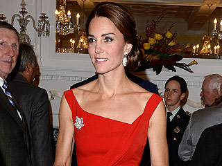 Princess Kate Stuns in Red Satin Dress (and Diamond Maple Leaf Brooch!) at Elegant Reception in Canada