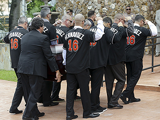 José Fernández's Pallbearers Wear No. 16 Jersey in Emotional Funeral for Marlins Star
