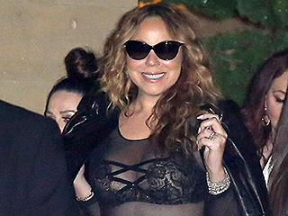 Mariah Carey Continues Her Sexy Outfit Streak with Sizzling Sheer Body Stocking