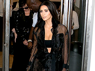 Kim Kardashian Bares Her Underboob in the Name of Paris Fashion Week (Warning: Pic Is NSFW)