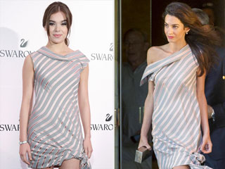 Fashion Faceoff: Amal Clooney and Hailee Steinfeld Wear the Same Shirt Dress Four Days Apart