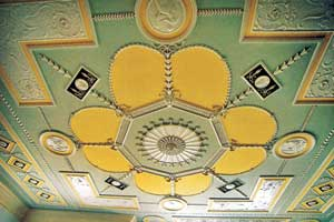 perfect example of artisnal plaster ceiling