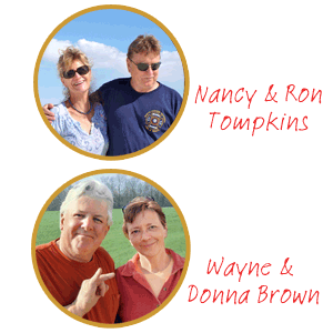 portraits of DIY'ers Nancy and Ron Tompkins, and Wayne and Donna Brown
