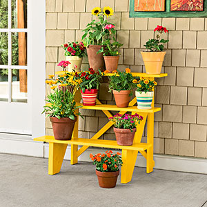 stair-riser plant stand