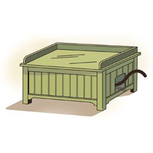 cat-box bench