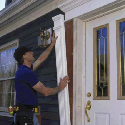 Install fluted columns | How to Spruce Up Your Entryway | This Old