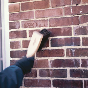 brushing brick