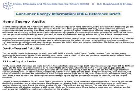 diy energy audits