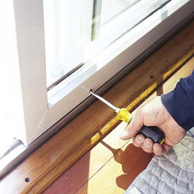 remove the sliding door