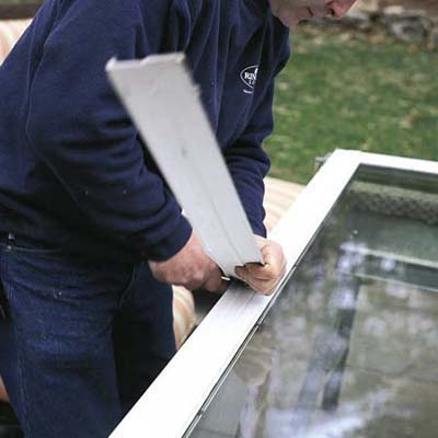 replace weatherstripping on sliding glass doors