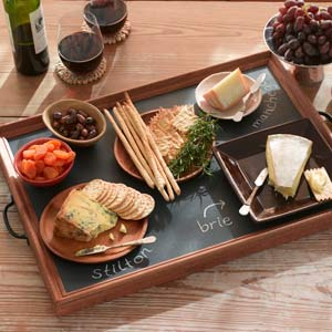 how to make a chalkboard tray with chalkboard paint