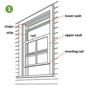Lower the upper sash