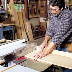 Nprm Abram crosscutting with a table saw