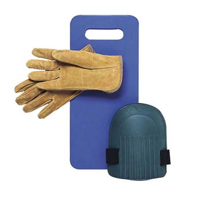 garden gloves and pads