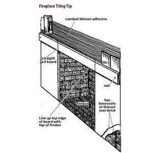 jun 2007 - fireplace tiling tip