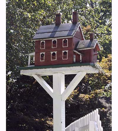Colonial-style purple martin house