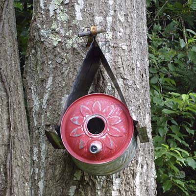 galvanized aluminum birdhouse