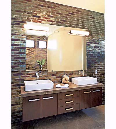 bronze-glazed black tile made from recycled bottles by Oceanside Glasstile