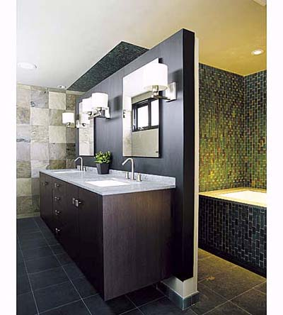 Earth tones using tile in the bathroom this old house for Bathroom designs earth tones