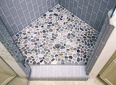 River rock tiles from Tile by Design