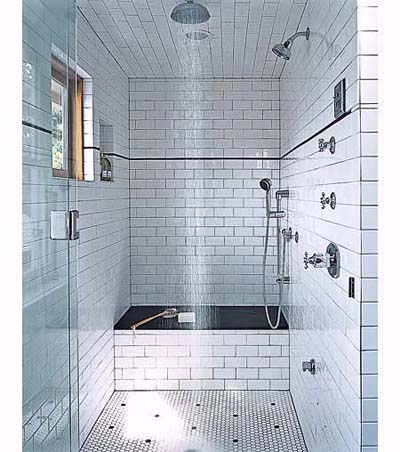 subway tile in shower