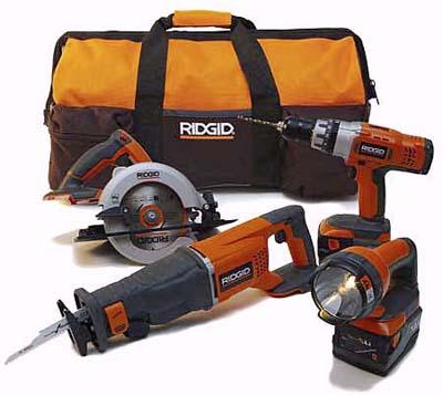 Ridgid cordless combo kit