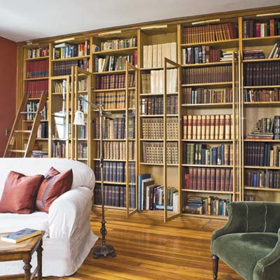 bookcases stocked in IKEA shelves