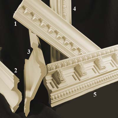 Polyurethane crown moldings