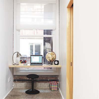 bright work area near the window