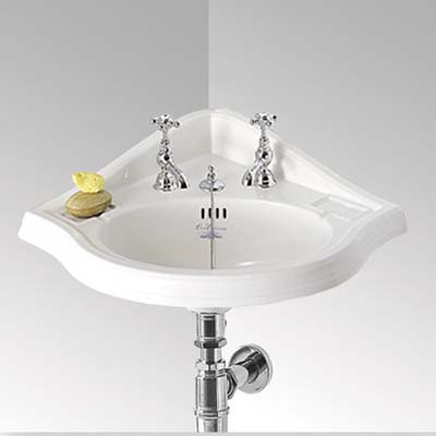 Space Saver Bathroom Sink : Corner-Mount Basin 10 Great Space Savers This Old House