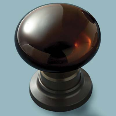 glass doorknob in jewel toned style