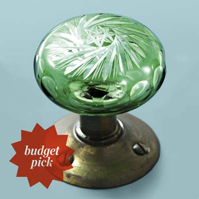 glass doorknob in cut glass style