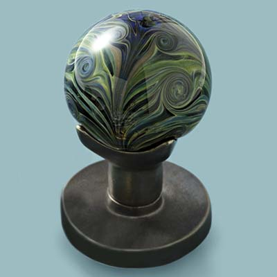 glass doorknob in Art Nouveau update style