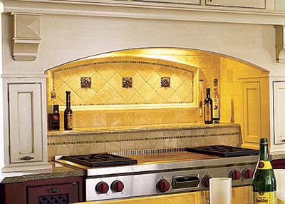 Tuscany tile backsplash