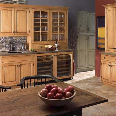 simple, casual cabinets from Plain & Fancy
