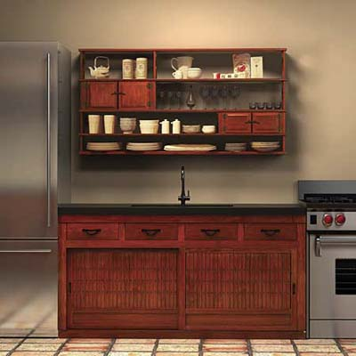 Zen kitchen cabinets by Greentea Designs