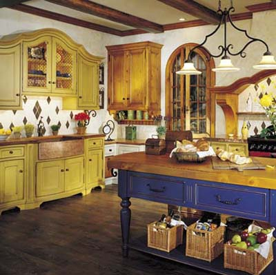 Colorful kitchen from Quality cabinets