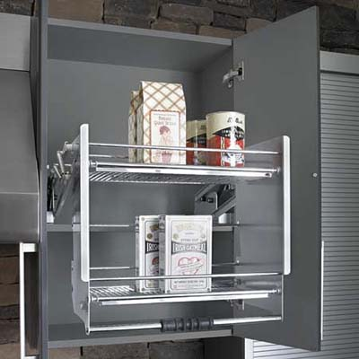 metal rack for upper cabinets