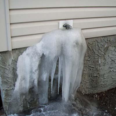 burst pipe, hose bib, frozen pipe