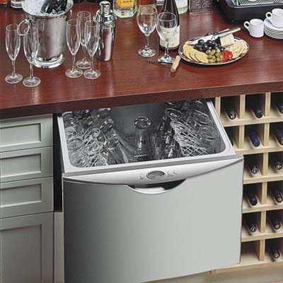 energy saving dishwasher beneath the sink