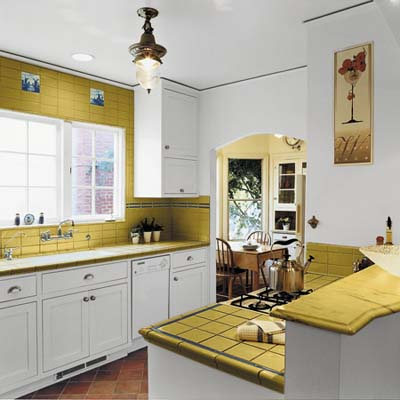 new kitchen design for small spaced yellow kitchen