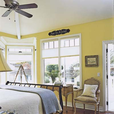 master bedroom allows for window seat