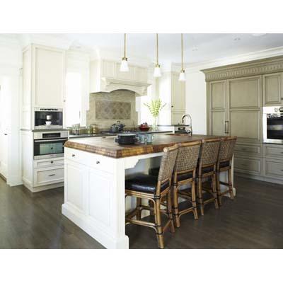 new remodeled kitchen, island, teak counter