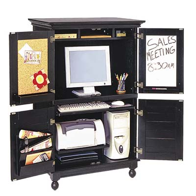 Office in a box space saving furniture this old house - Space saving office furniture ...