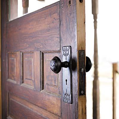 metal doorknob