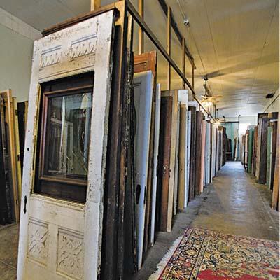 rows of old doors