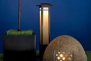 landscape lighting features add security as they impart style