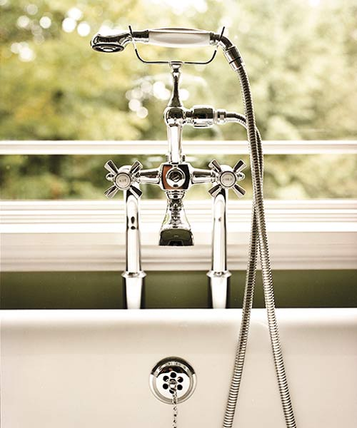 Polished-chrome fittings from Waterworks